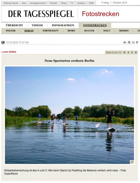 tagesspiegel - stand up paddling berlin