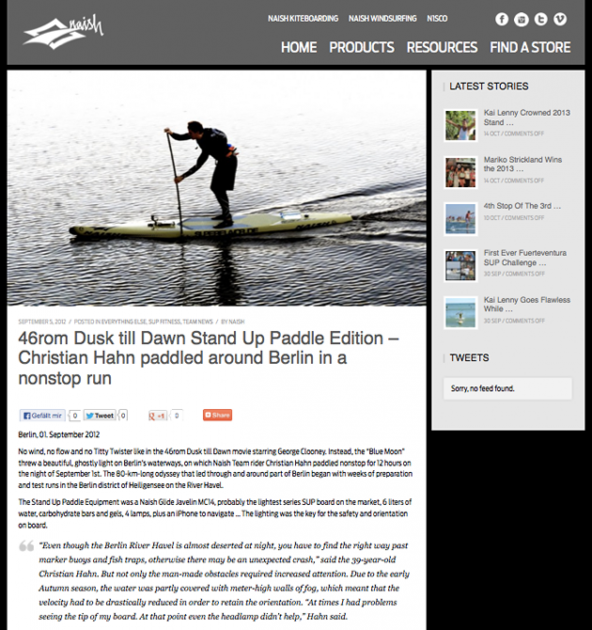 sup berlin umrundung christian hahn naish surfing